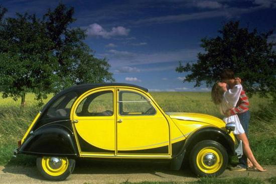 2cv charleston jaune et noire
